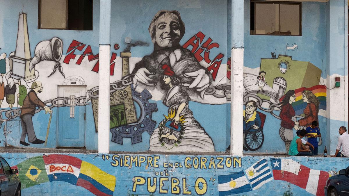Boca Mural tag Nestor Kirchner Siempre en el corazon del pueblo