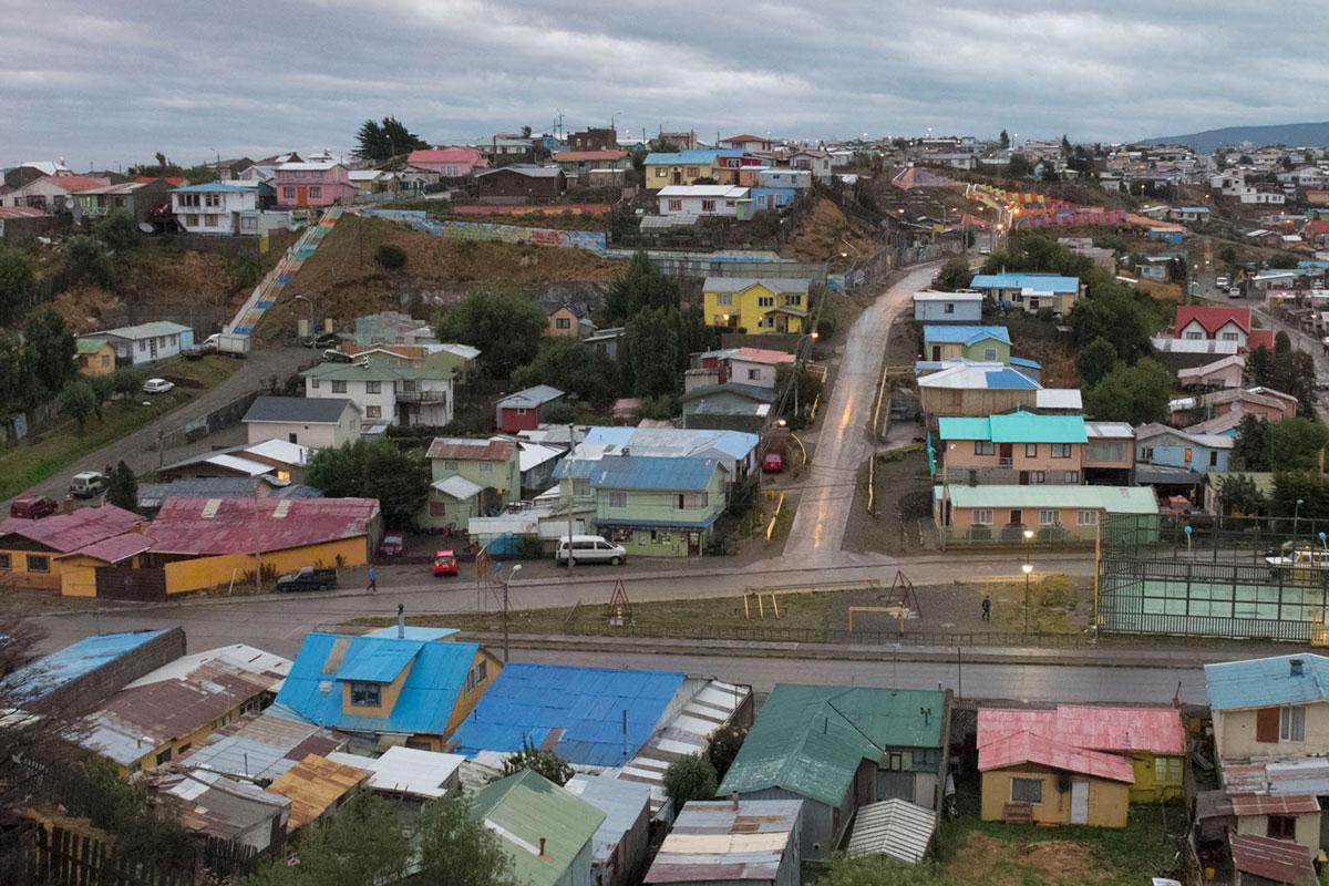 Punta Arenas barrio atardecer