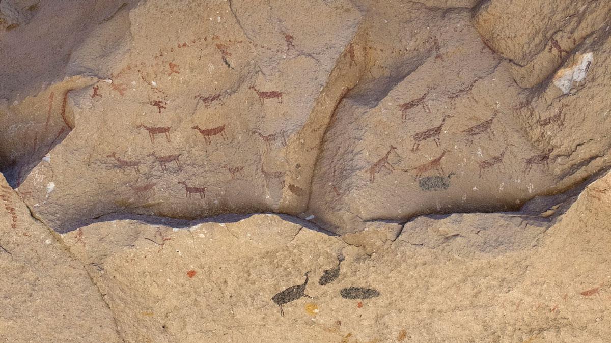 Argentina Cueva de las manos pintura rupestre caza guanaco
