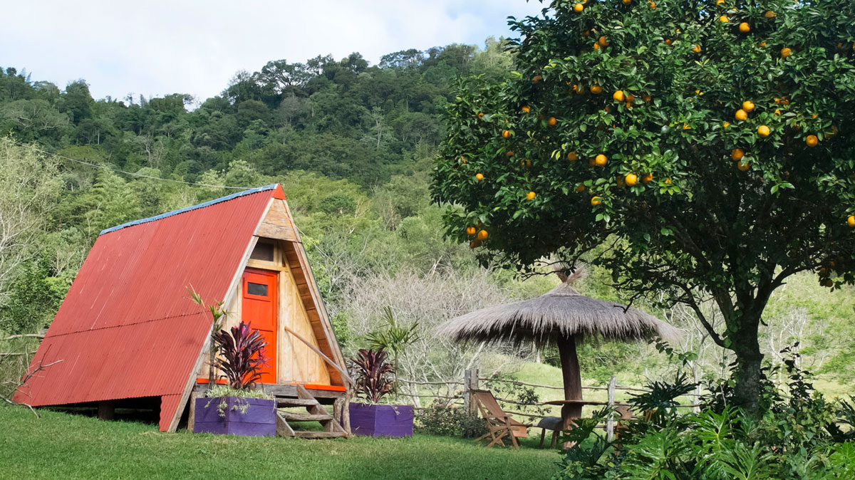 Paraguay Ybytyruzú cabanas granja fransisca