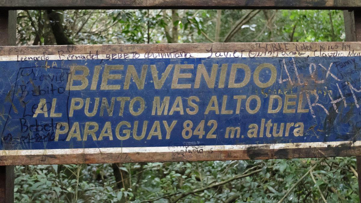 Paraguay Ybuturuzu panneau sommet