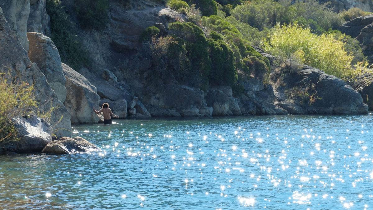 Chili chile chico lac general carrera Juan baignade
