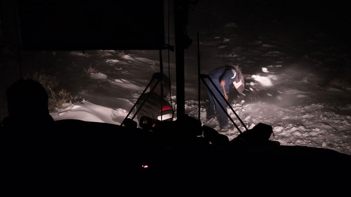 Pasto Ventura pelle route neige