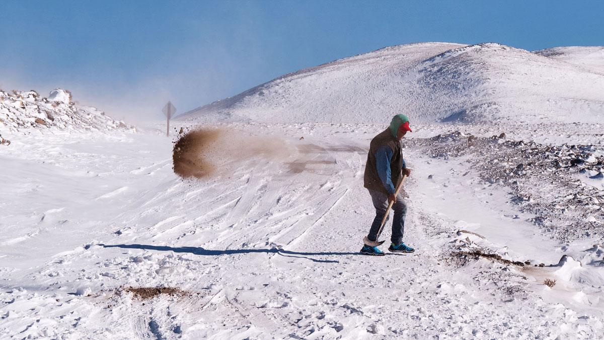 Pasto Ventura pelle terre neige