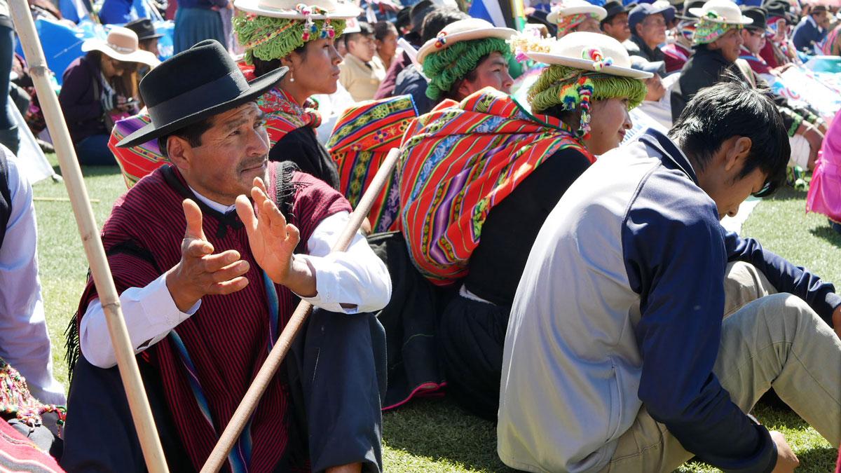 Bolivie Tarabuco dia revolución agraria homme discours evo morales