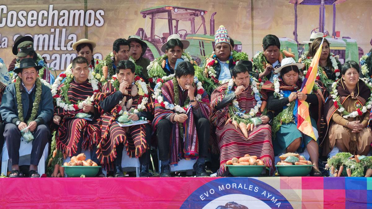 Bolivie Tarabuco dia revolución agraria evo morales