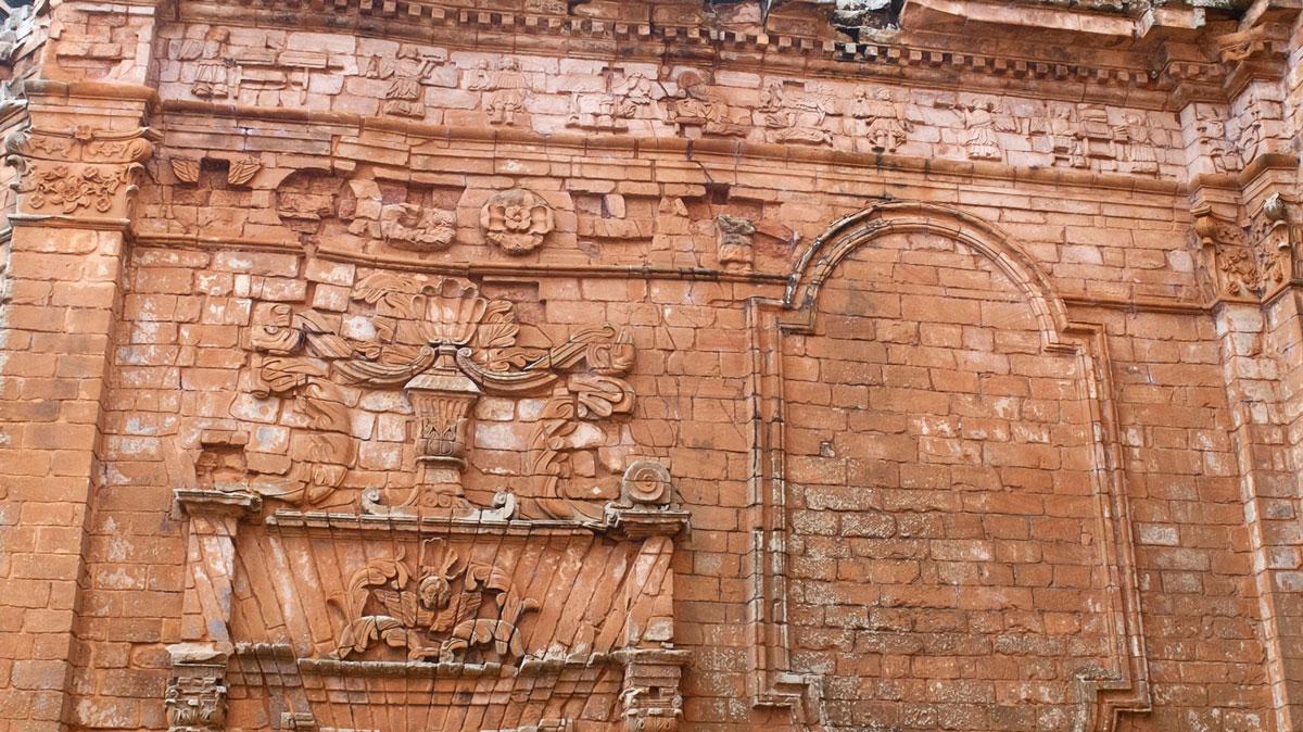 Mission jésuite guarani Trinidad fresque