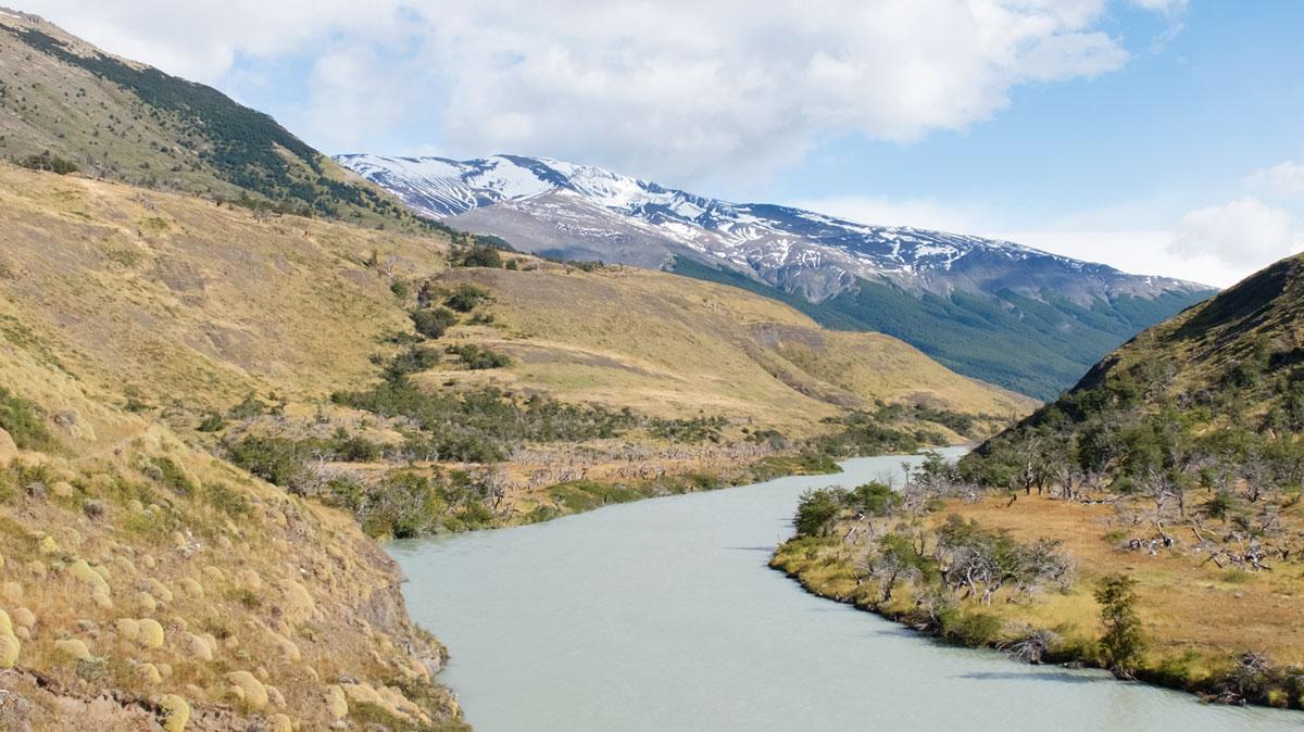 Torres del Paine fleuve