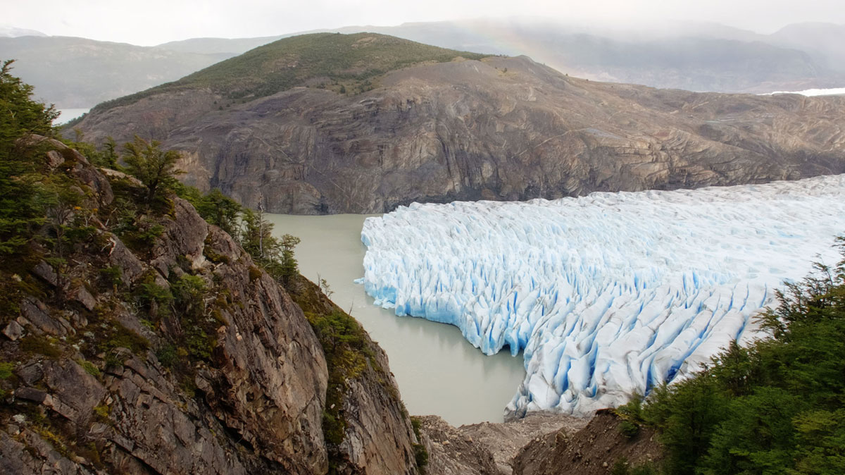 Torres del Paine glacier grey
