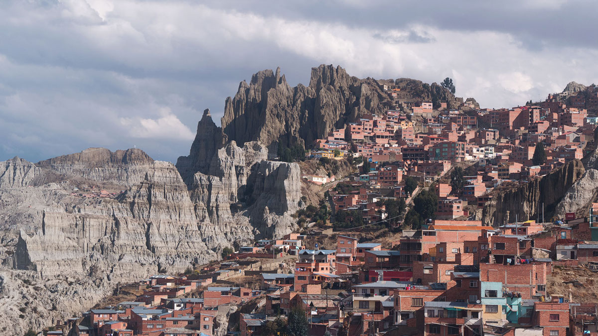 La Paz Bolivie quartier colline
