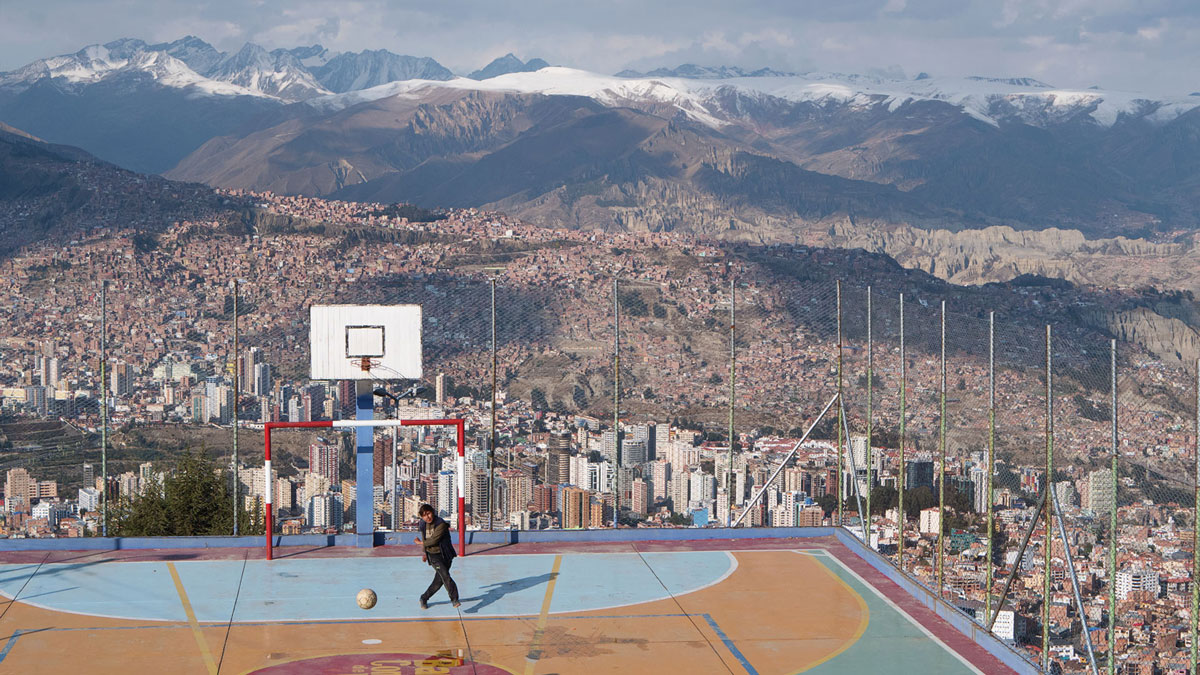 La Paz Bolivie terrain football