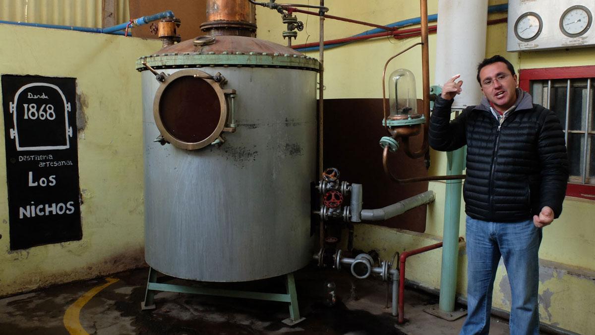 Chili Valle del Elqui visite distillerie pisco los nichos