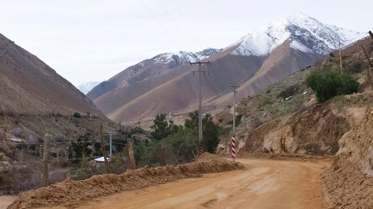 Chili Valle del Elqui piste de terre
