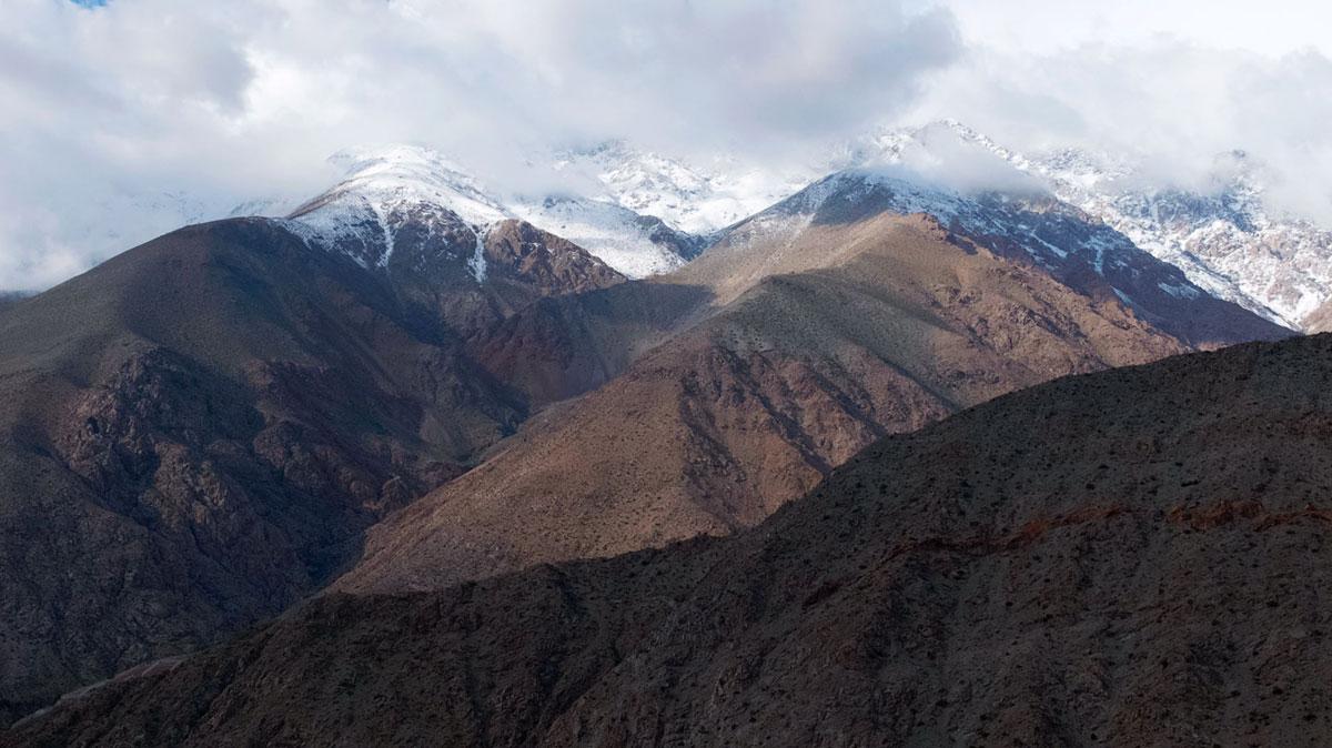 Chili Valle del Elqui Sommets Enneigés