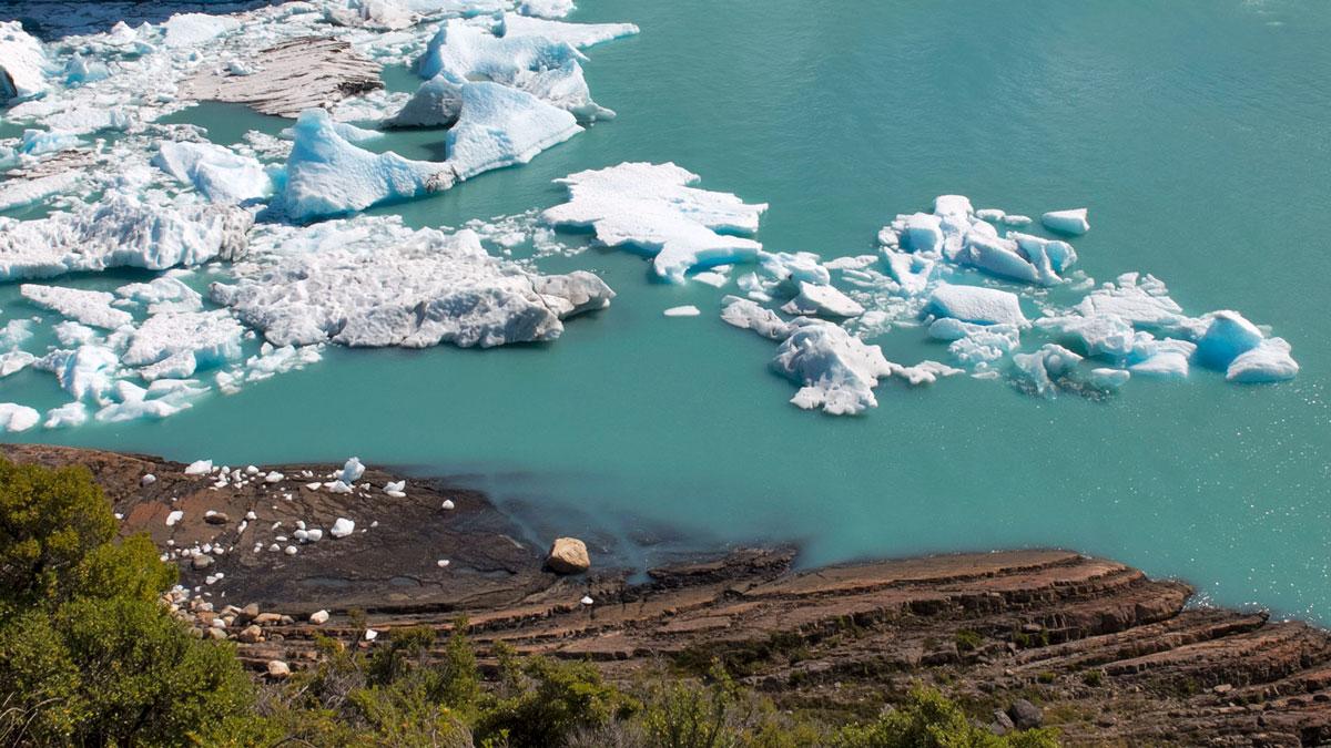Argentine Glacier Perito Moreno Débris Iceberg