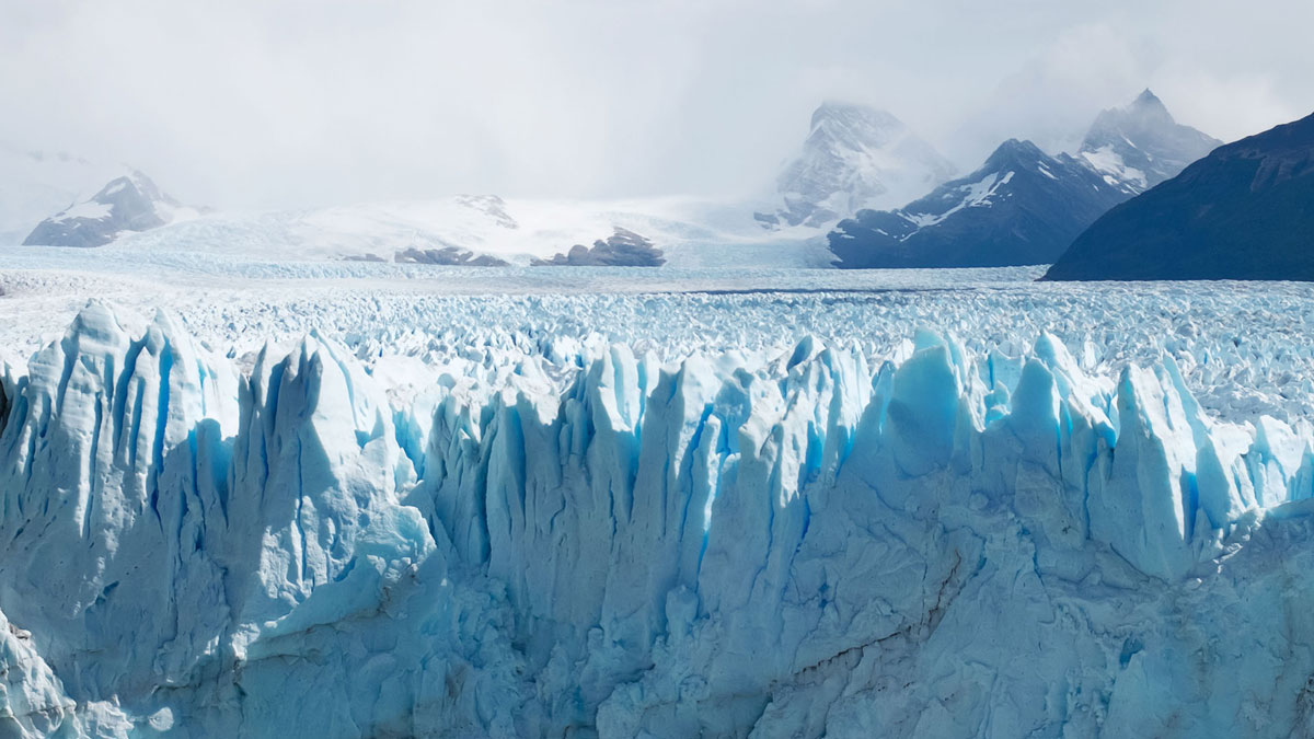 Argentine Glacier Perito Moreno Détails Bleu