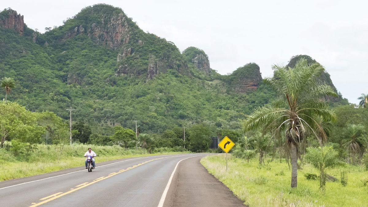 Paraguay route Cordillère de l'Amambay