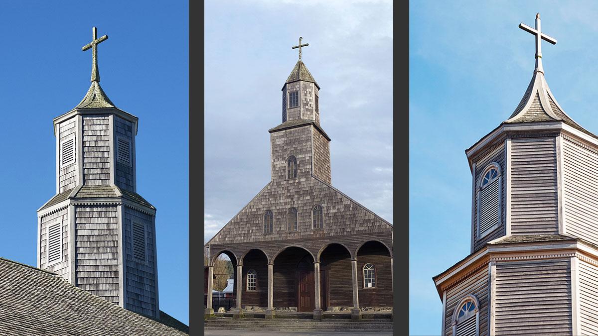 Clochers bois églises île de Chiloé