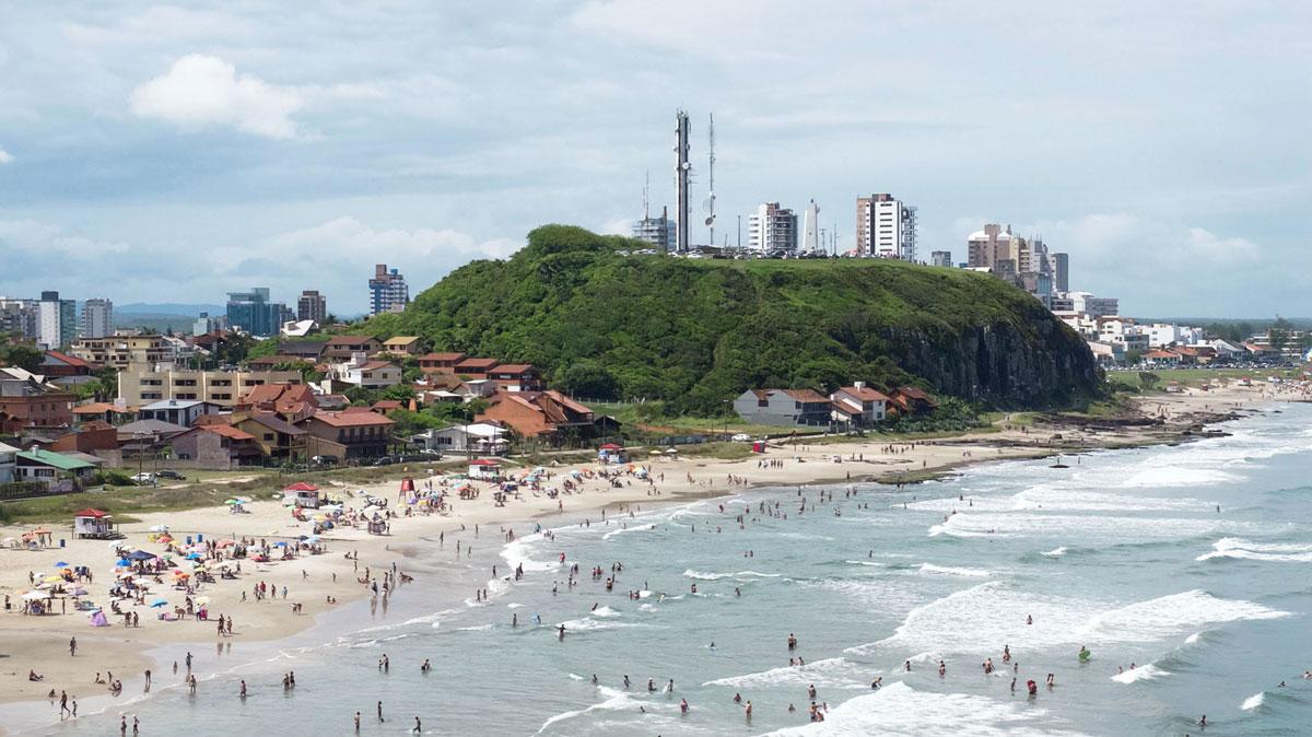 Brésil Torres plage morro do farol