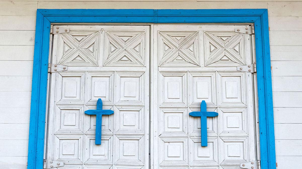 Chiloé Portes église Nercón
