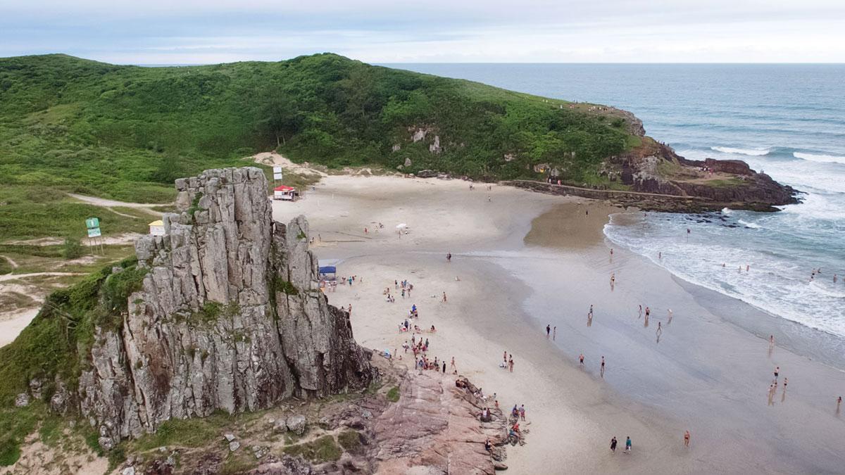 Brésil Torres rocher plage praia da guarita