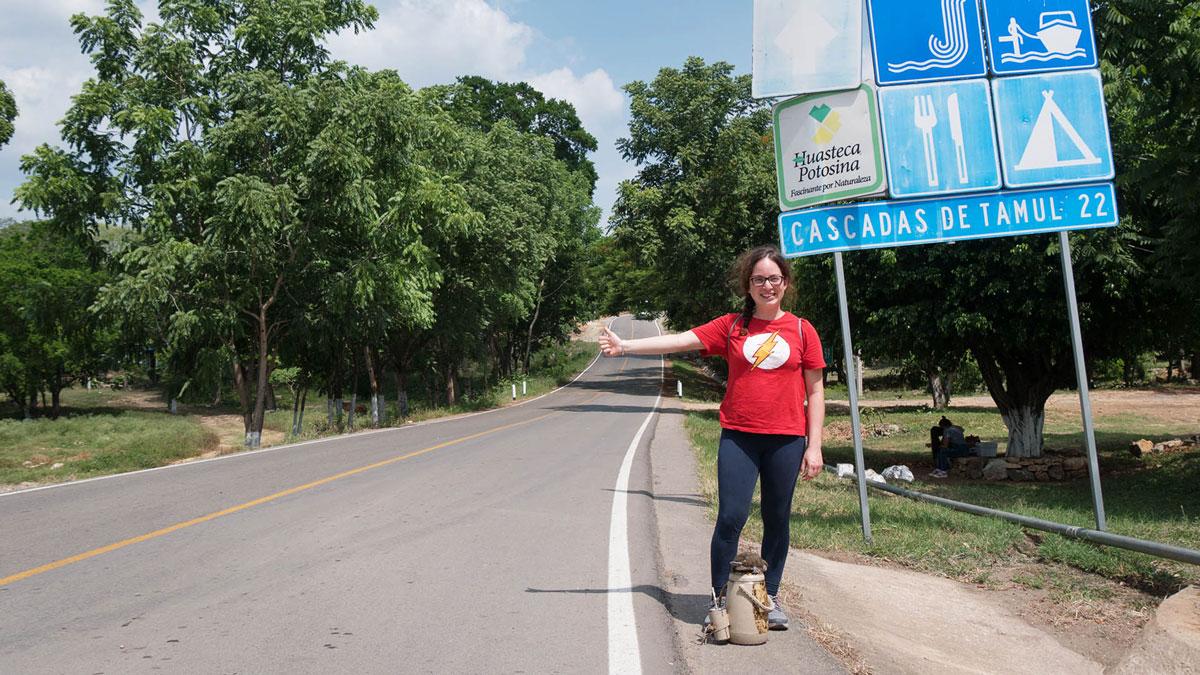 Claro auto-stop au Mexique Tamul